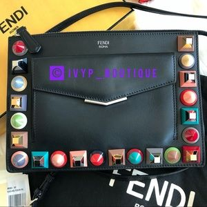 FENDI Studded Crossbody/Pouch
